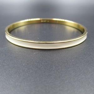 Cream White & Gold Napier Brand Bangle Bracelet